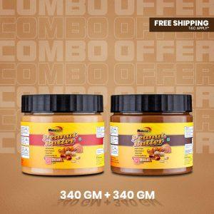 Musclife Peanut Butter Combo (Creamy 340gm & Chocolate 340gm)