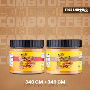 Musclife Peanut Butter Combo (Creamy 340gm & Crunchy 340gm)